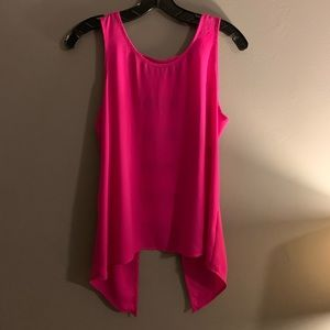Hot pink Express tank with cute back detail